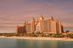Atlantis On Palm Jumeirah In Dubai royalty free stock images