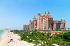 Atlantis, the Palm luxury hotel resort is located on an artifici Stock Images