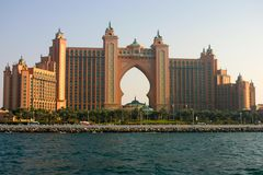 Atlantis palma Jumeirah zdjęcia royalty free