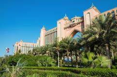 Atlantis Palmowy hotel w Dubaj, UAE na Październiku 29, 2014 Fotografia Royalty Free
