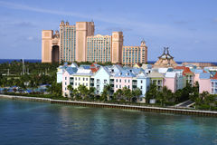 Atlantis paradise island. Stunning atlantis resort in the background of nassau harbour Stock Images