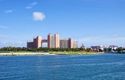 Atlantis Paradise Island Hotel and Casino in Nassau Royalty Free Stock Photo
