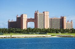 Atlantis Paradise Island Hotel and Casino in Nassau Stock Photos