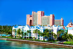 The Atlantis Paradise Island resort, located in the Bahamas Royalty Free Stock Image