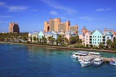 Atlantis semesterort i Nassau, Bahamas Arkivfoto