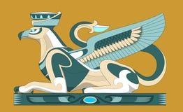 Atlantis sfinx Arkivbild