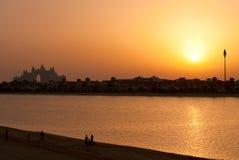 Atlantis-Sonnenuntergang, Dubai lizenzfreie stockfotografie