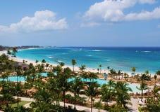 Atlantis strand Bahamas Arkivfoton