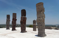 Atlantis in Tula Mexico Stock Image