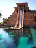 Atlantis Water Slide. Photo of the infamous shark tank water slide in Atlantis, Bahamas Stock Images