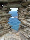 Atlantische Fensteransicht Stockbild