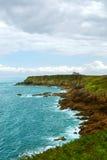 Atlantische Küste in Bretagne stockbilder