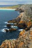 Atlantische kust in Bretagne Stock Afbeeldingen