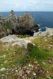 Atlantische kust in Bretagne Royalty-vrije Stock Afbeeldingen