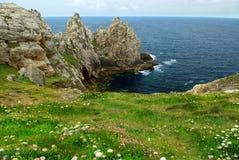 Atlantische kust in Bretagne Stock Foto's