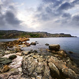 Atlantische kust in Newfoundland stock foto