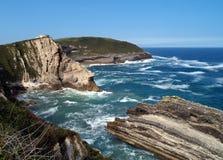 Atlantische kust in Spanje Royalty-vrije Stock Fotografie