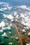 Atlantische kust van Frankrijk Stock Foto's