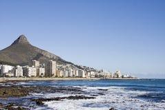 Atlantische kustlijn buiten Kaapstad Royalty-vrije Stock Afbeeldingen