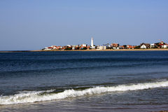 Atlantische kustlijn, La Paloma, Uruguay Stock Afbeelding
