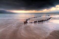 Atlantische onweer komst royalty-vrije stock foto