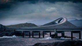 Atlantische weg, Noorwegen Stock Foto's