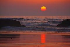 Atlantische zonsondergang stock fotografie