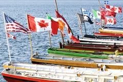 Atlantischer HerausforderungInternational - Fahne-Markierungsfahnen Lizenzfreie Stockbilder