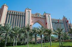 Atlantishotel in Doubai stock foto
