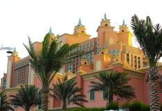 Atlantishotel in Palm Jumeirah stock foto's