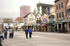 atlantisk boardwalkstad Royaltyfri Bild