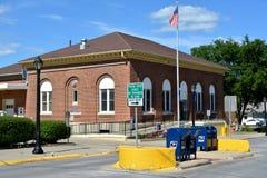 Atlantisk Iowa stolpe - kontor Arkivfoto