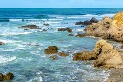 Atlantisk kust på Jard-sur-MER, Vendee, Frankrike Arkivfoton