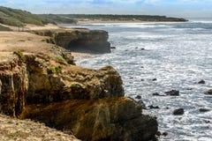 Atlantisk kust på Jard-sur-MER, Vendee, Frankrike Arkivbilder