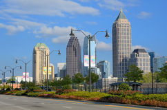Atlantisk station i Atlanta, Georgia arkivbilder