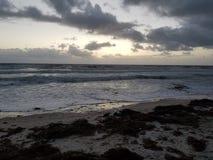 Atlantiska morgnar på kusten Arkivbild