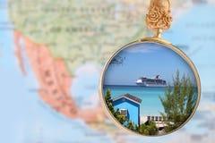 atlantiskt karibiskt semestra för rancho för landskap för cienfuegoscuba luna hav Arkivbild
