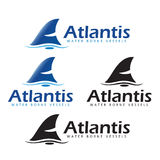Atlantiswater Gedragen Schepen Stock Illustratie