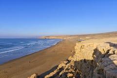 Atlantycka linia brzegowa na drodze Agadir, Maroko Obraz Royalty Free
