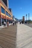Atlantycki miasta Boardwalk Zdjęcia Stock