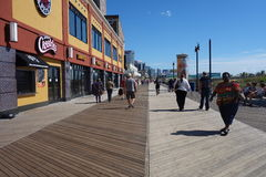 Atlantycki miasta Boardwalk Fotografia Royalty Free