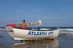 Atlantycki miasta Lifeboat, ratownik i zdjęcie royalty free