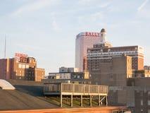 ATLANTYCKI miasto, NJ - MAJ 2018 Widok od above Atlantycki miasto przy zmierzchem, Nowy - bydło Miasto zna dla swój kasyn, boardw Obraz Stock