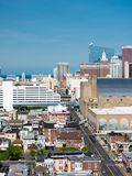 ATLANTYCKI miasto, NJ - MAJ 2018: Widok Atlantycki miasto w Nowym - bydło Miasto zna dla kasyn, boardwalk, plaży i als swój, Zdjęcie Stock