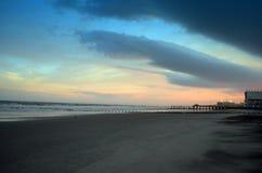 Atlantycki miasto Nowy - dżersejowy wschód słońca obrazy stock