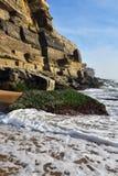Atlantycki oceanu wybrzeże, Azenhas Mąci wioskę, Sintra, Lisbon, Po Zdjęcia Stock