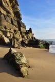 Atlantycki oceanu wybrzeże, Azenhas Mąci wioskę, Sintra, Lisbon, Po Zdjęcie Stock