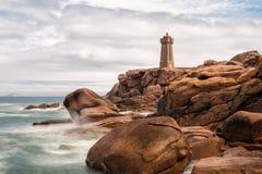 Atlantycki oceanu wybrzeże w Brittany Zdjęcia Royalty Free
