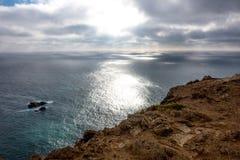 Atlantycki widok na ocean przy przylądkiem Roca Obraz Royalty Free