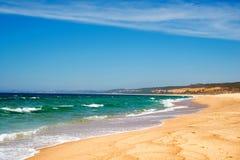 Atlantyk plaża, Portugalia Zdjęcia Stock